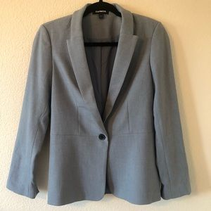 NWOT EXPRESS ONE BUTTON BABY BLUE BLAZER